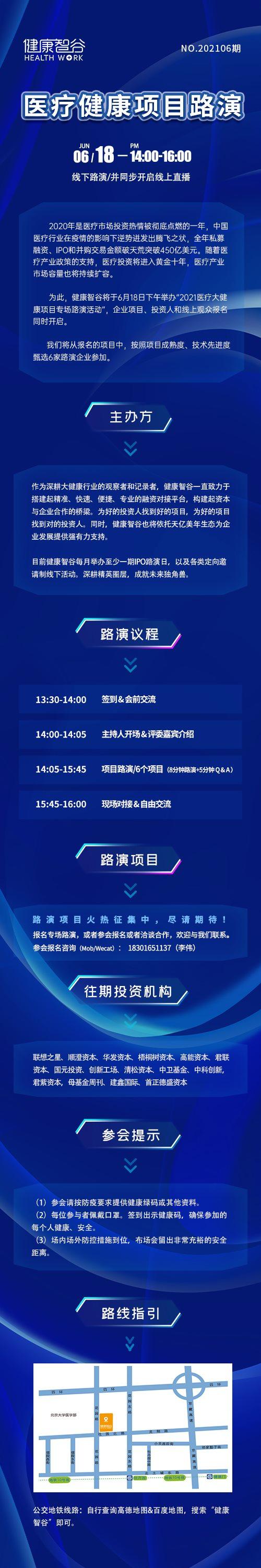 智谷创新——医疗大健康项目路演(2021年6月)