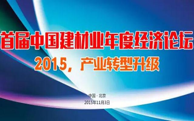 首届中国建材业年度经济论坛