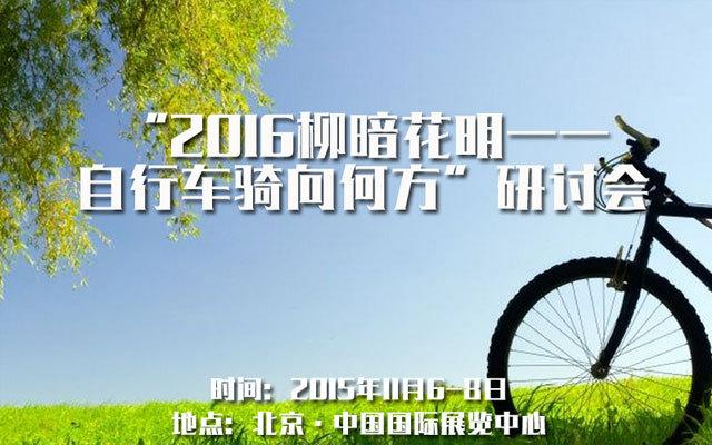 """""""2016柳暗花明——自行车骑向何方""""研讨会"""