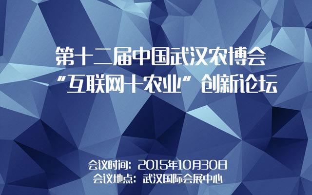 """第十二届中国武汉农博会 """"互联网+农业""""创新论坛"""