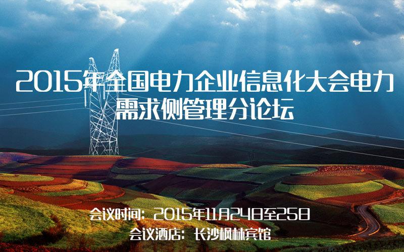 2015年全国电力企业信息化大会电力需求侧管理分论坛