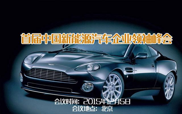 首届中国新能源汽车企业领袖峰会