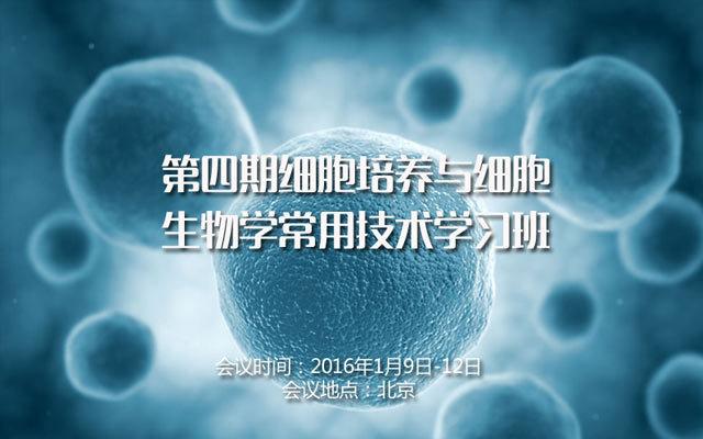 第四期细胞培养与细胞生物学常用技术学习班
