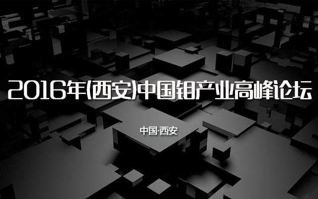 2016年(西安)中国钼产业高峰论坛