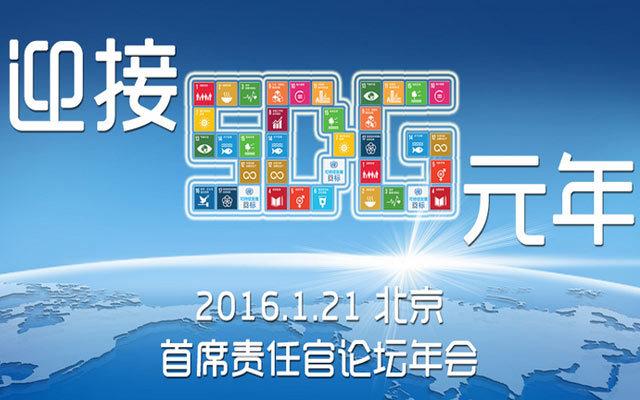 迎接元SDG年——CRO论坛2016年会