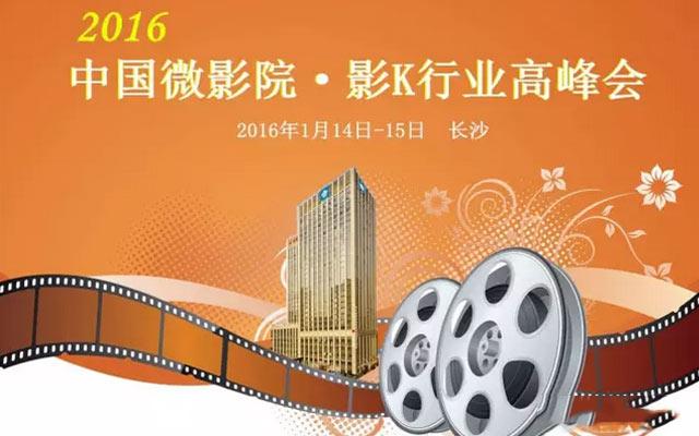 2016中国微影院/影K行业高峰会(长沙站)