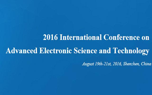 2016年先进电子科学与技术国际学术会议