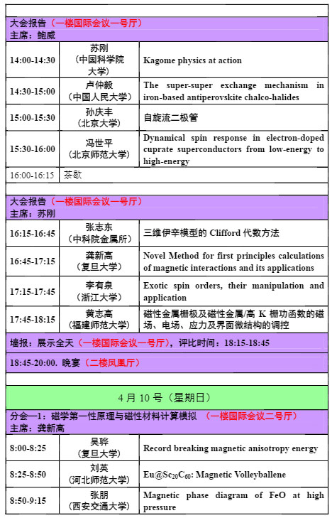 第十四届全国磁性理论会议