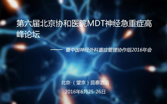 2016第六届北京协和医院MDT神经急重症高峰论坛