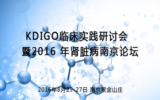 KDIGO临床实践研讨会暨2016 年肾脏病南京论坛