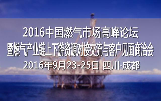 2016中国燃气市场高峰论坛暨燃气产业链上下游资源对接交流与客户见面商洽会