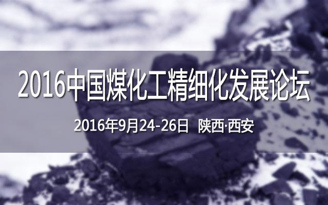 2016中国煤化工精细化发展论坛