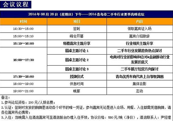 2016青岛二手车行业夏季高峰论坛