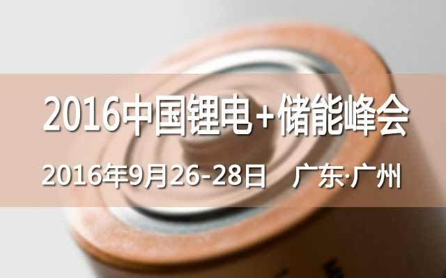 2016中国锂电+储能峰会