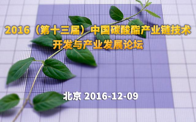 2016(第十三届)中国碳酸酯产业链技术开发与产业发展论坛