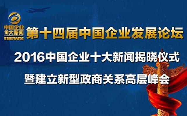 2017第十四届中国企业发展论坛 2016中国企业十大新闻揭晓仪式
