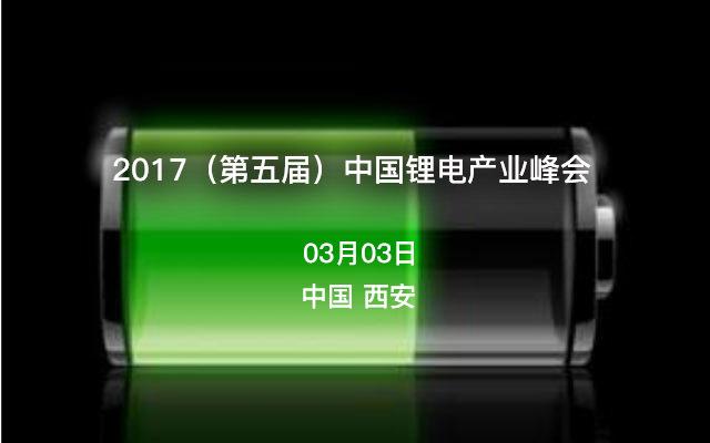 2017(第五届)中国锂电产业峰会