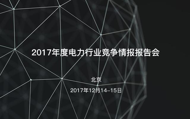 2017年度电力行业竞争情报报告会