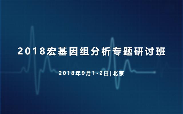 2018宏基因组分析专题研讨班