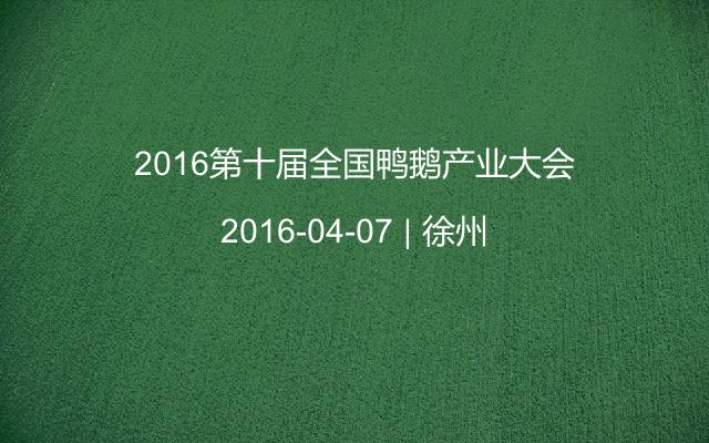 2016第十届全国鸭鹅产业大会