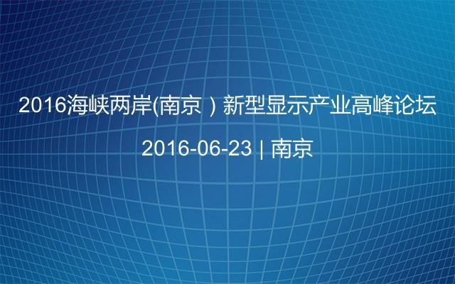 2016海峡两岸(南京)新型显示产业高峰论坛
