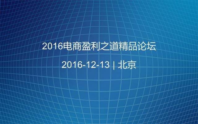 2016电商盈利之道精品论坛
