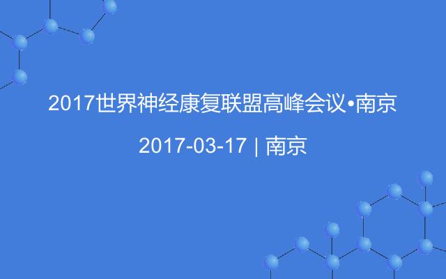 2017世界神经康复联盟高峰会议•南京