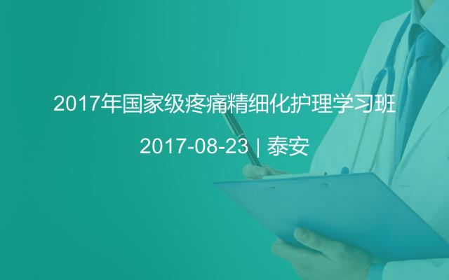 2017年国家级疼痛精细化护理学习班