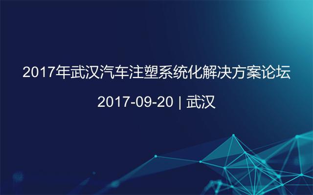 2017年武汉汽车注塑系统化解决方案论坛