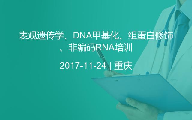 表观遗传学、DNA甲基化、组蛋白修饰、非编码RNA培训