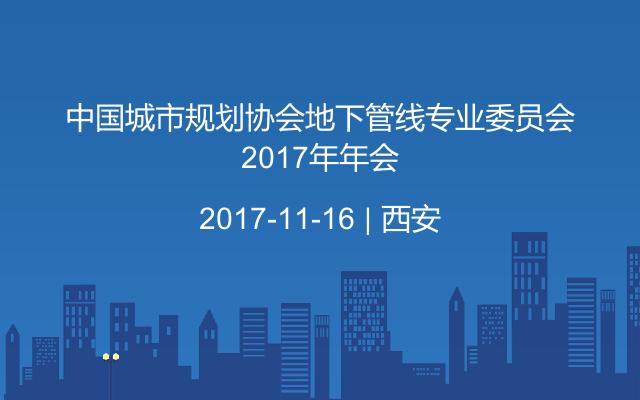 中国城市规划协会地下管线专业委员会2017年年会