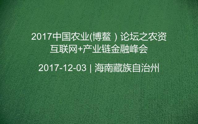 2017中国农业(博鳌)论坛之农资互联网+产业链金融峰会