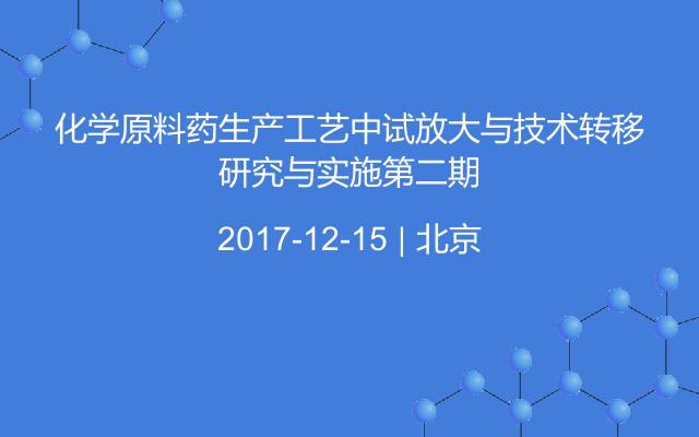 化学原料药生产工艺中试放大与技术转移研究与实施第二期