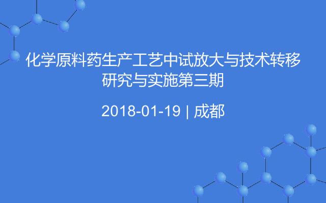 化学原料药生产工艺中试放大与技术转移研究与实施第三期