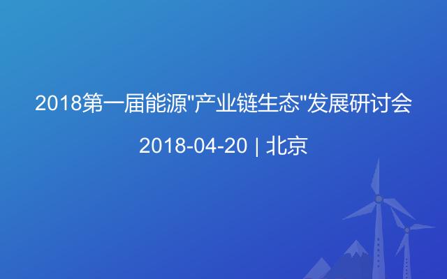 """2018第一届能源""""产业链生态""""发展研讨会"""