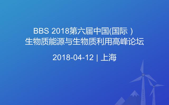 BBS 2018第六届中国(国际)生物质能源与生物质利用高峰论坛
