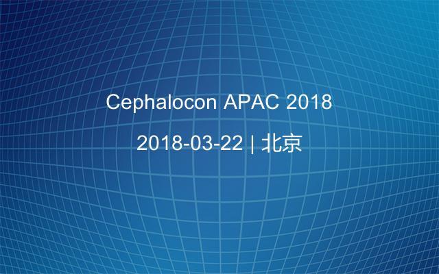 Cephalocon APAC 2018