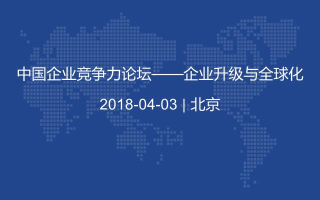 中国企业竞争力论坛——企业升级与全球化
