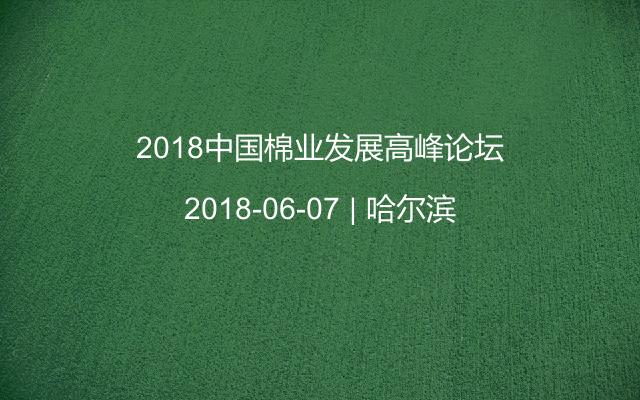 2018中国棉业发展高峰论坛
