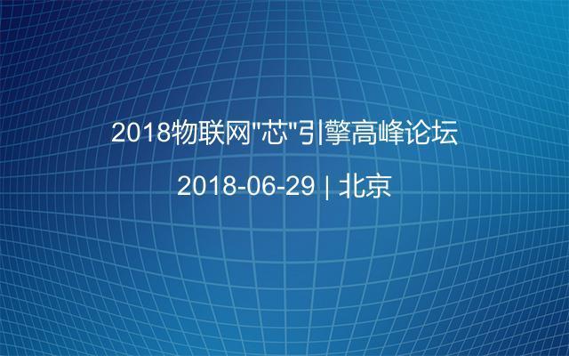 """2018物联网""""芯""""引擎高峰论坛"""