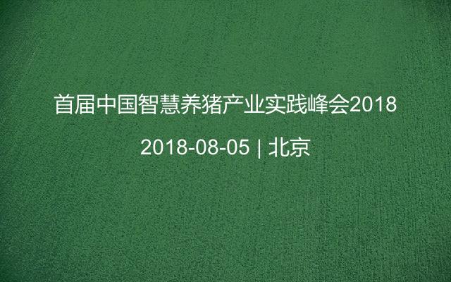 首届中国智慧养猪产业实践峰会2018