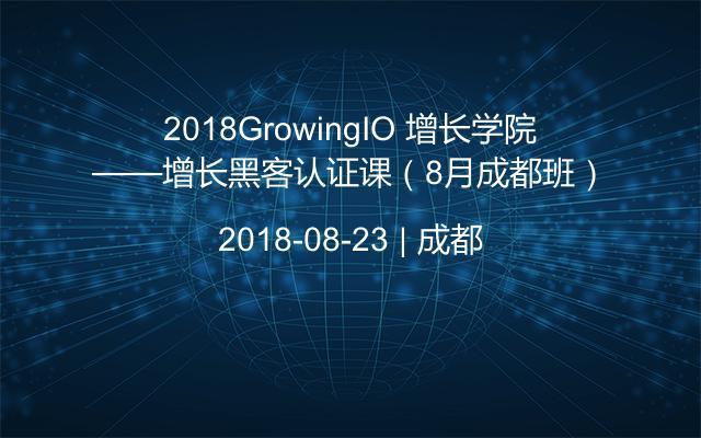 2018GrowingIO 增长学院——增长黑客认证课(8月成都班)