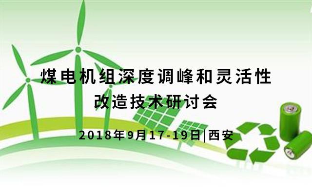 2018煤电机组深度调峰和灵活性改造技术研讨会