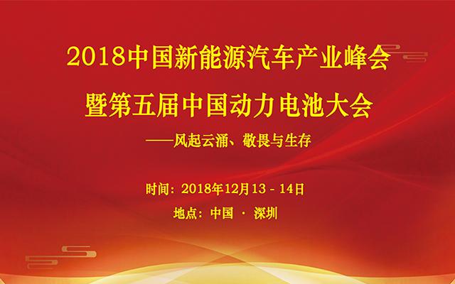2018中国新能源汽车产业峰会暨第五届中国动力电池大会