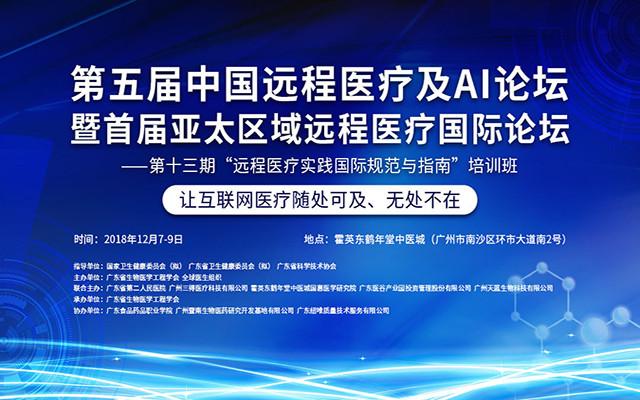 2018第五届中国远程医疗及AI论坛暨首届亚太区域远程医疗国际论坛