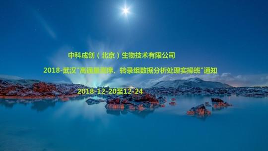 高通量测序应用最新技术与数据分析高级培训班2018(武汉)
