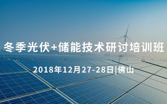 2018冬季光伏+储能技术研讨培训班(佛山)