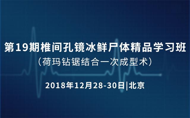 第19期椎間孔鏡冰鮮尸體精品學習班-荷瑪鉆鋸結合一次成型術 2018(北京)