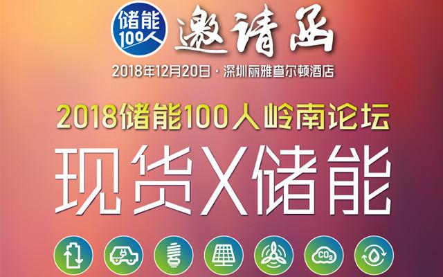 2018储能100人岭南论坛(深圳)