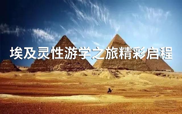 2019年埃及靈性游學之旅精彩啟程